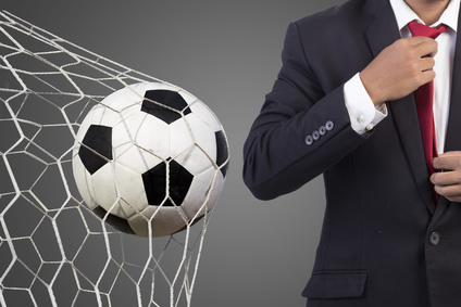 Football manager with soccer
